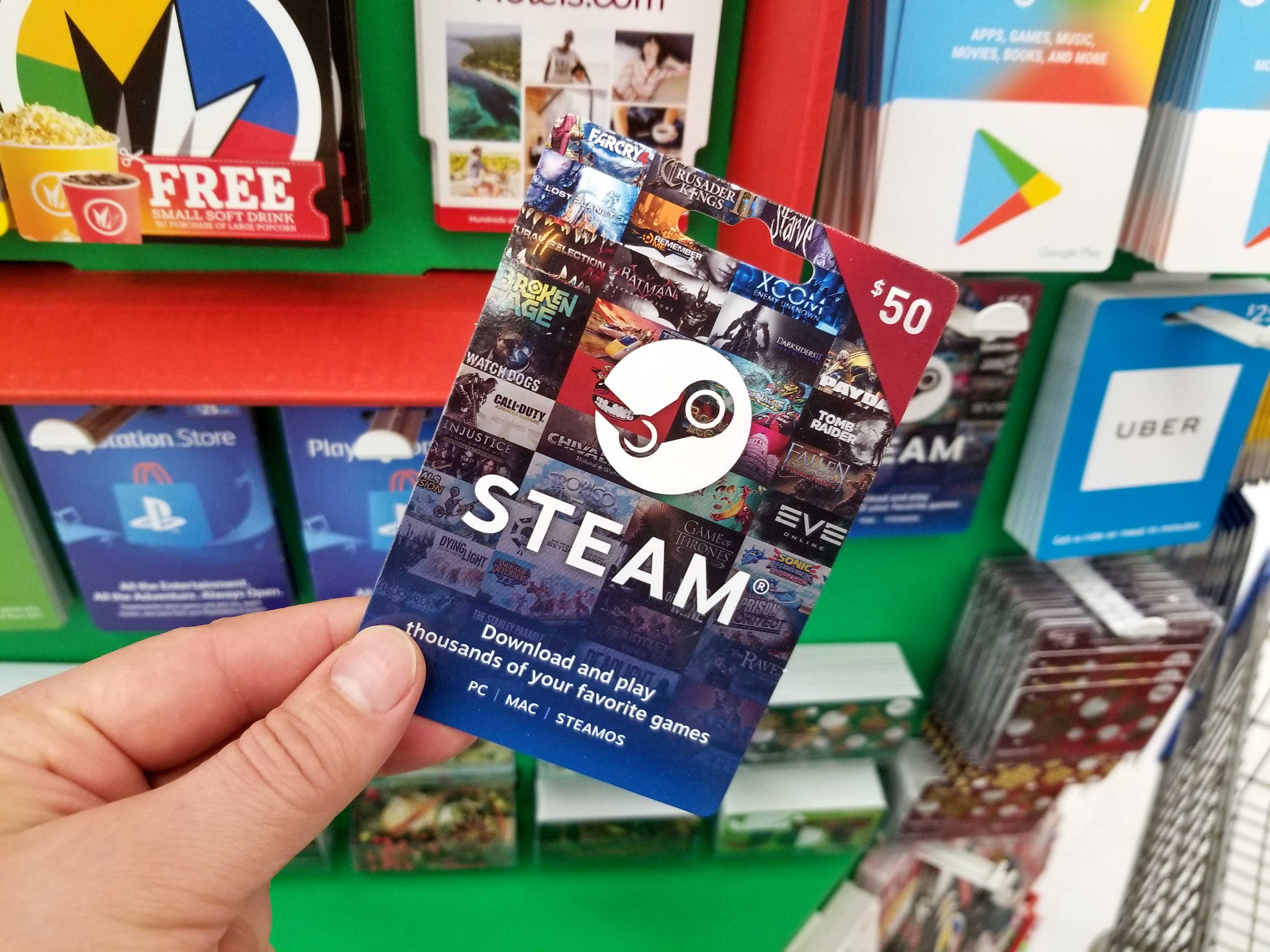 steam-gift-card, Never Ending Level, neverendinglevel.com